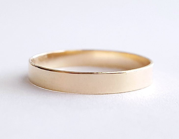 14k gold ring, wedding ring, stacking ring