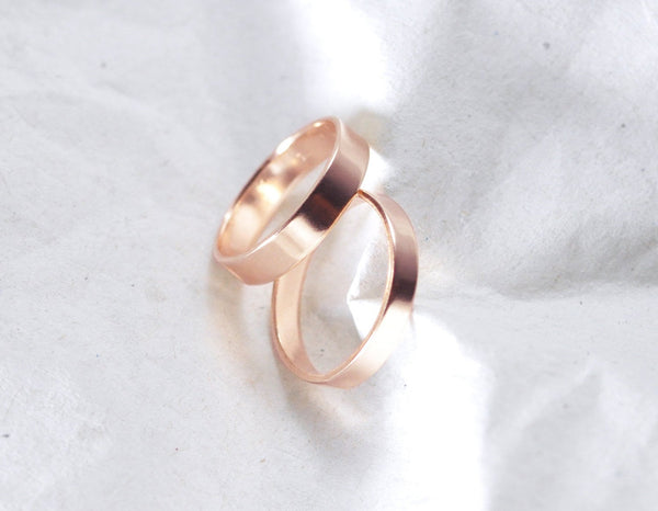 Aven 3 mm Smooth - 14K Rose Gold Ring