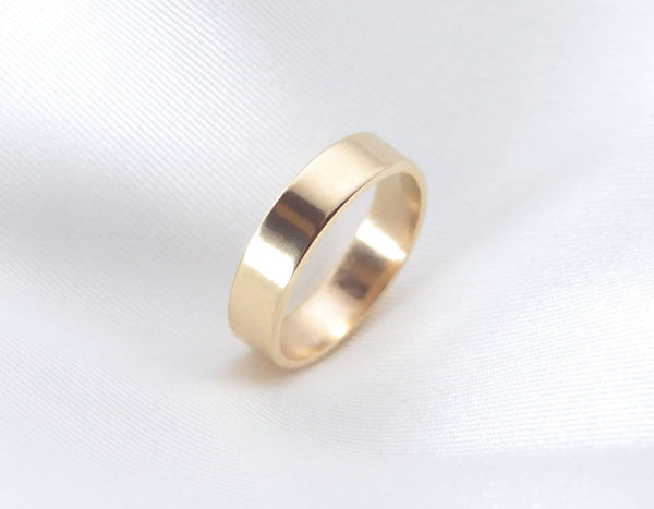 Theia 4 mm Smooth - 14K Yellow Gold Ring