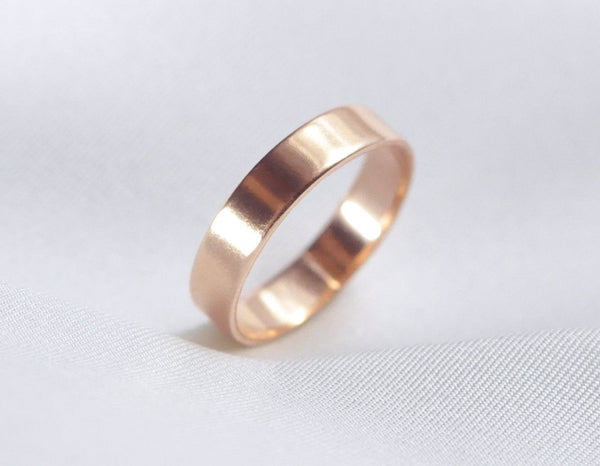 Aven 4 mm Smooth - 14K Rose Gold Ring