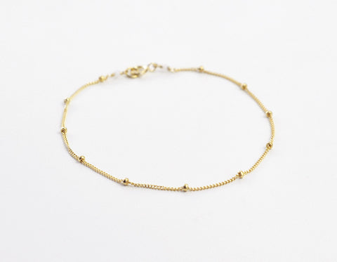 Satellite bracelet - gold fill