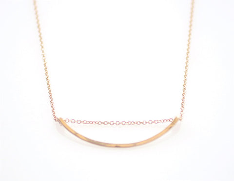 Rose Gold Arc necklace