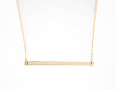 XL Gold Bar necklace