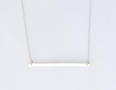 XL Silver Bar necklace
