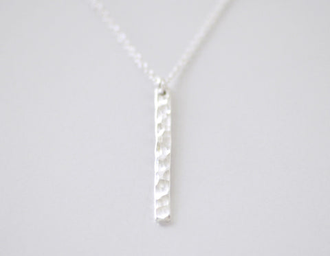 Slice necklace - hammered sterling silver