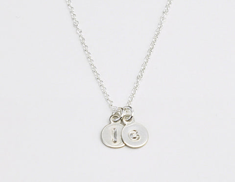 Mini Initials necklace - sterling