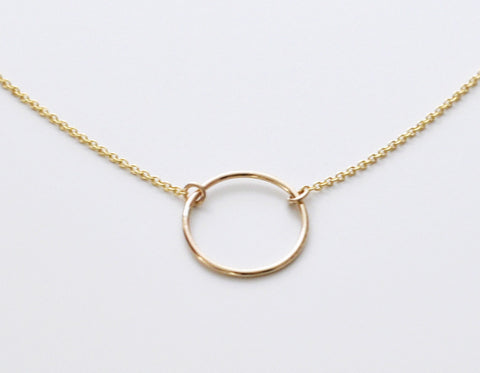 Halo necklace - gold fill