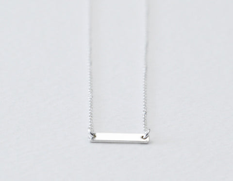 Silver Dash necklace