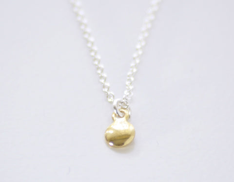 Tiny dot necklace - silver or gold