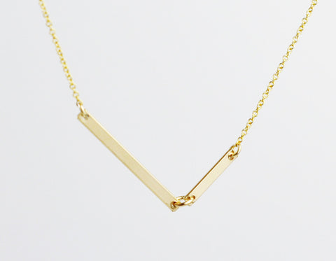 Diagon gold necklace