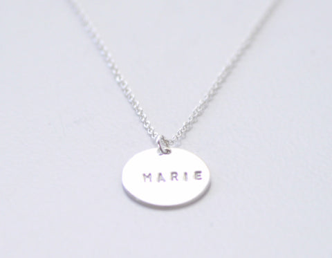 Personalized Coin necklace - sterling silver