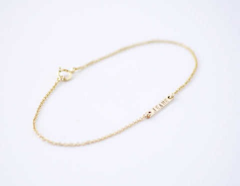 Personalized Dash Bracelet - Silver or Gold