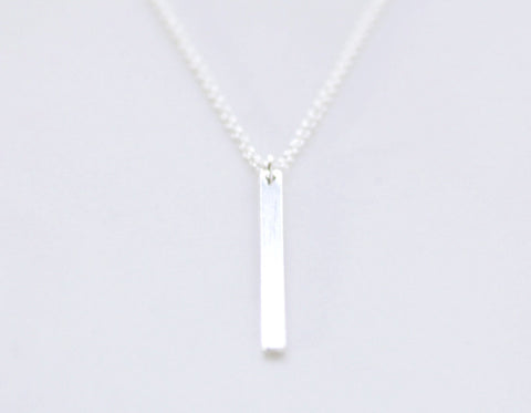 Slice necklace - sterling silver bar