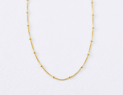 Satellite necklace - gold