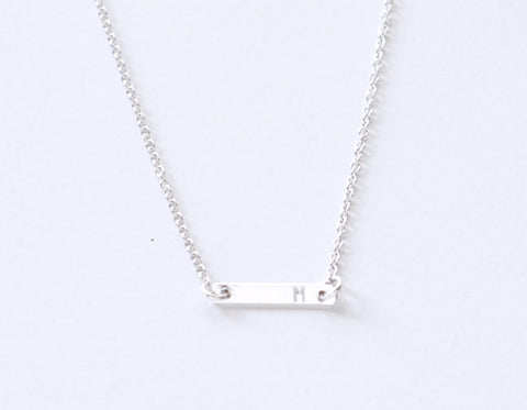 Initial Silver Dash necklace