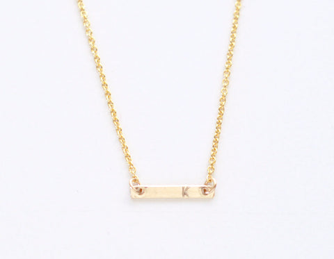 Initial Gold Dash necklace