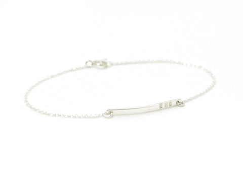 Personalized bar bracelet - sterling