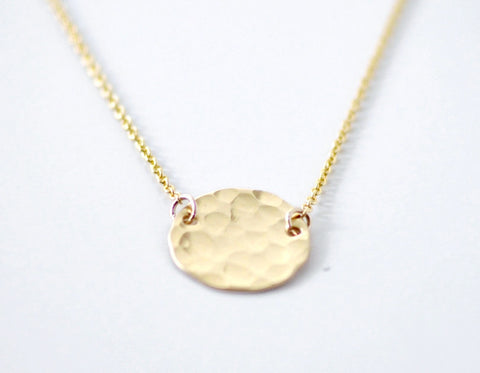 Gold moon necklace - gold filled