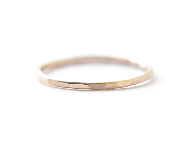 14k gold ring, stacking ring, thin band, everyday ring, karat1424