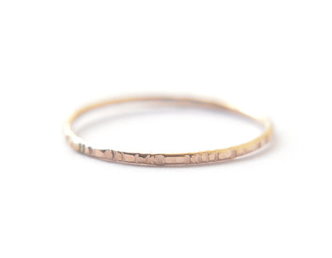 Signe ring - 1mm gold fill