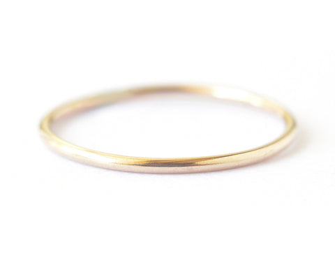 Ina Ring 1mm - 14k solid yellow gold