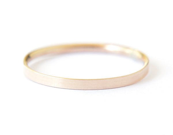 14k yellow gold ring, wedding ring, plain band, simple band, karat1424