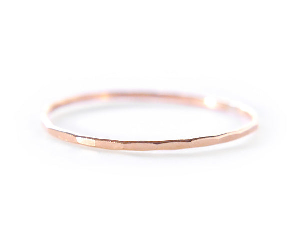 14k rose gold ring, skinny ring, thin ring, minimalist ring, karat1424