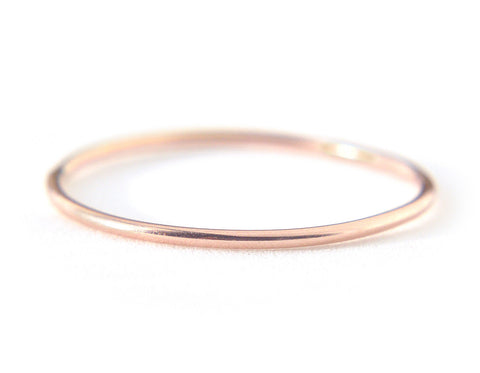 Ina Ring 0.8mm - 14K Solid Rose Gold