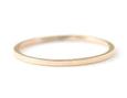 14k yellow gold ring, wedding ring, minimalist ring, flat band, karat1424