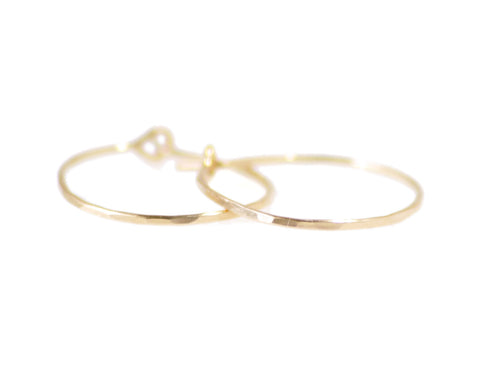 Hammered Hoops - Gold or Silver