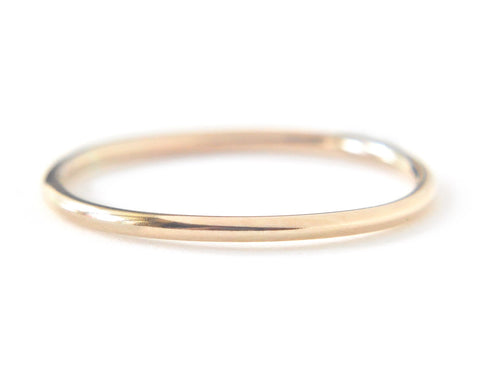 Ina Ring 1.3mm - 14k Solid Yellow Gold