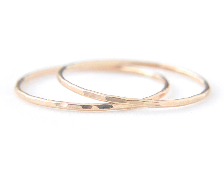 14k yellow gold ring, stacking ring, dainty ring