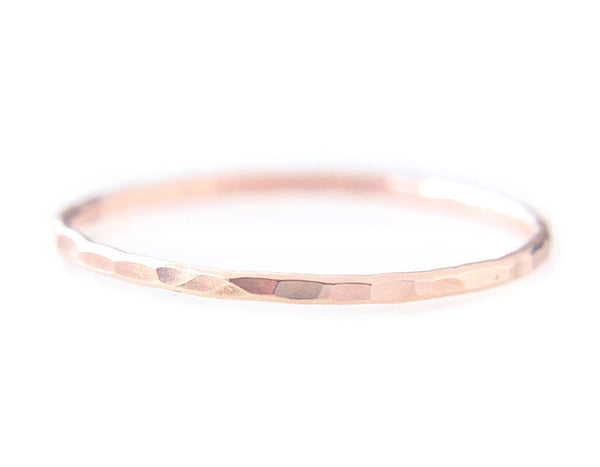 14k rose gold ring, stacking ring, thin ring, karat1424