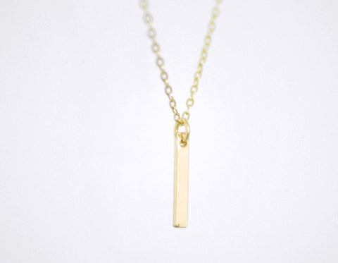 Tiny slice necklace - gold filled