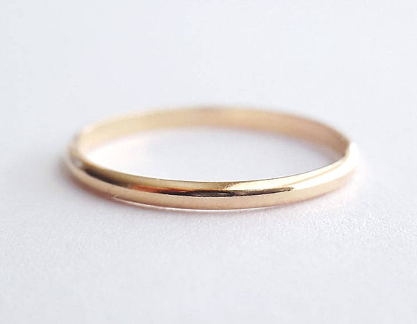 14k gold ring, simple ring, wedding band, gold band, karat1424