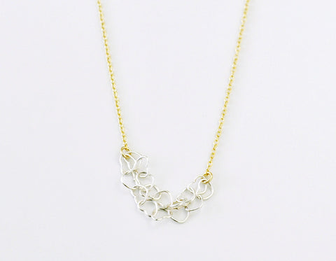 Heartstrings necklace - silver and gold