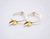 Double leaf hoops earrings - gold filled