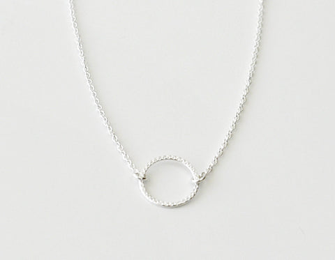 Halo necklace - diamond texture
