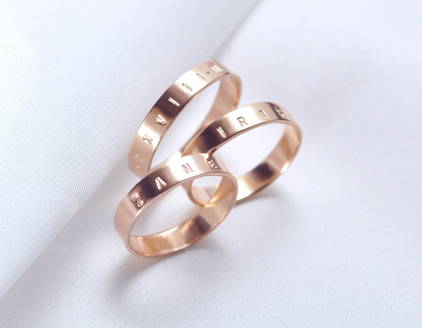 Aven 4 mm Personalized - 14K Rose Gold Ring
