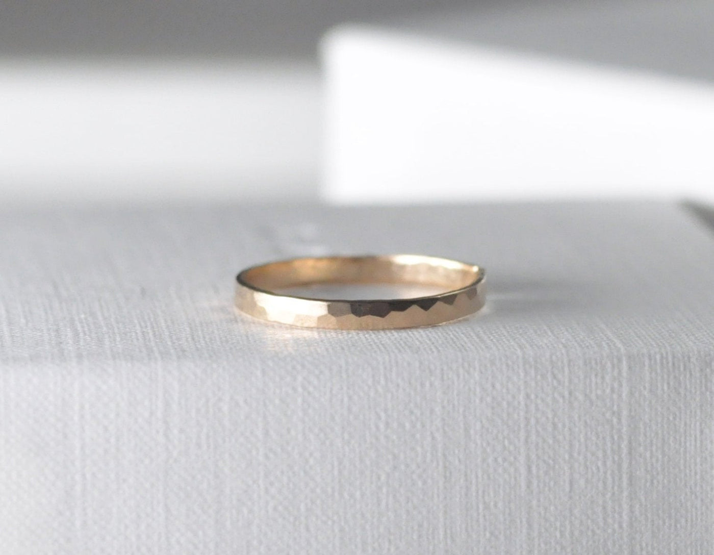 Aven 2 mm Faceted - 14K Yellow Gold Faceted Ring