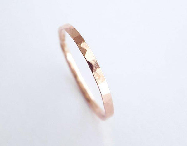 14k rose gold ring, wedding ring, stacking ring, karat1424