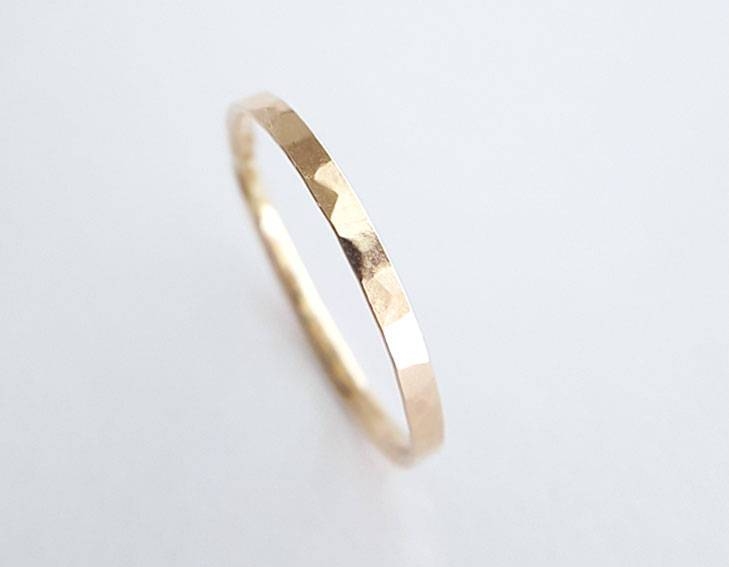 14k yellow gold ring, everyday ring, delicate ring