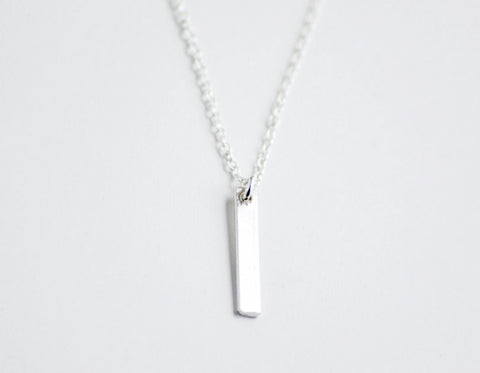 Tiny slice necklace - sterling silver