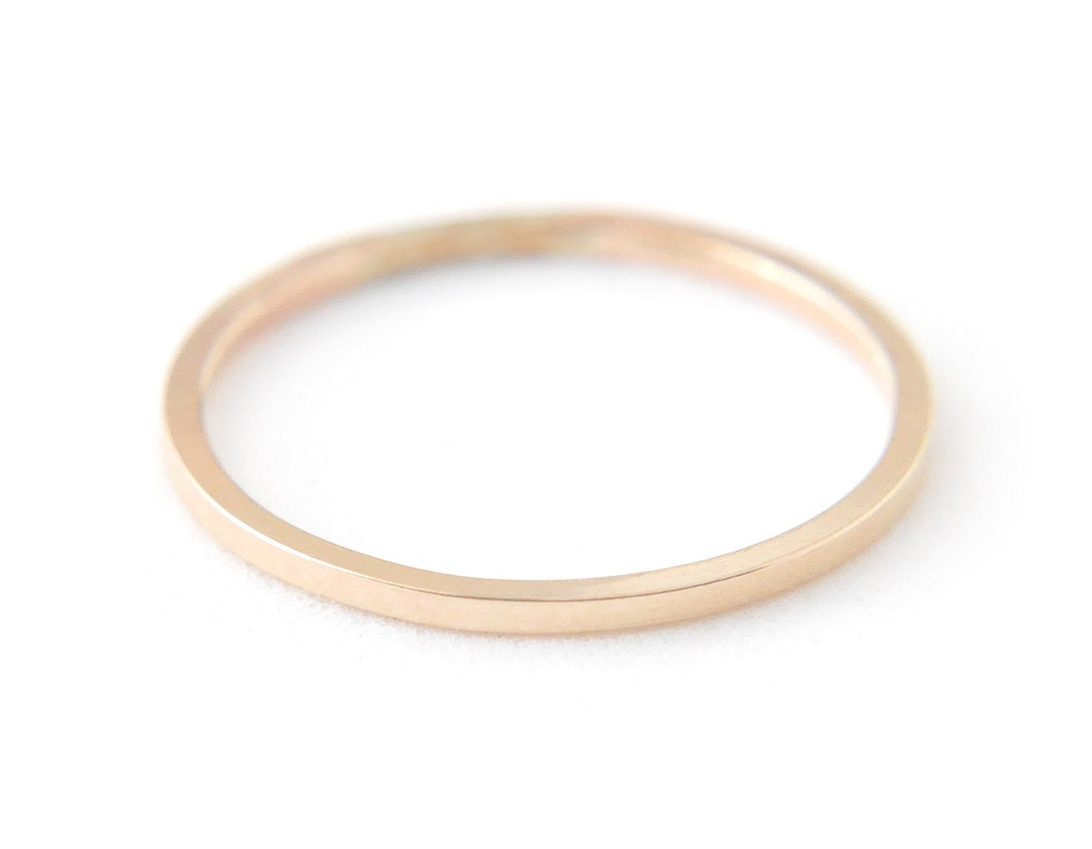 dainty gold ring, wedding ring, minimalist ring, 14k gold ring, karat1424