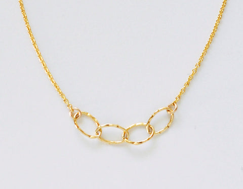 Sentiment necklace - gold filled
