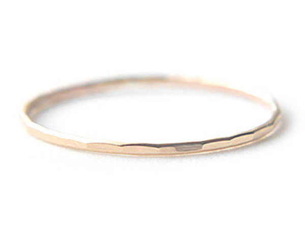 14k yellow gold ring, stacking ring, dainty ring, karat1424