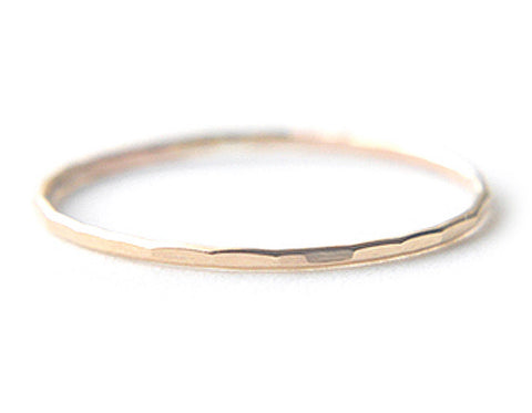 Silk - 14K Solid Yellow Gold ring 0.8mm
