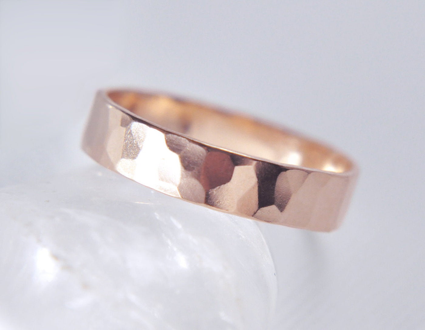 Aven 4 mm Faceted - 14K Rose Gold Ring