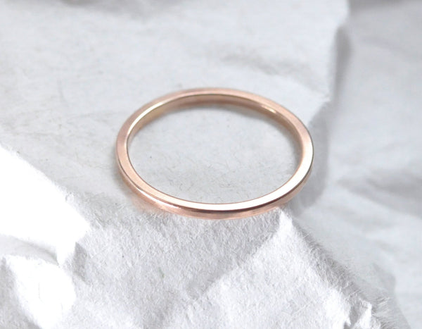 Nera 1.3 mm - 14K Rose Gold Ring