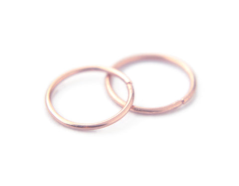 14K Rose Gold Endless Hoops